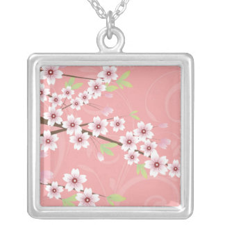 Soft Pink Cherry Blossom Necklace