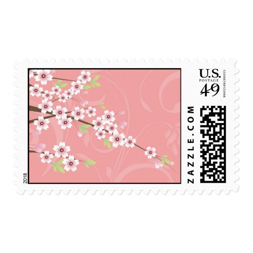 Soft Pink Cherry Blossom Postage