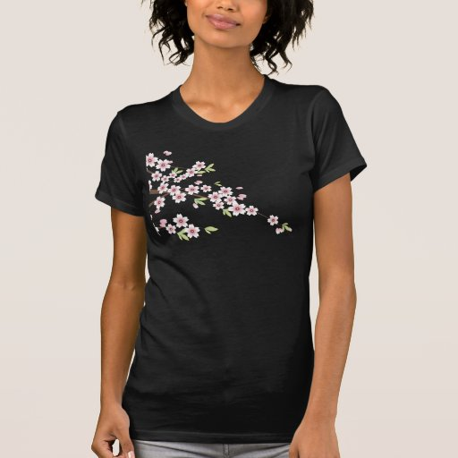 Soft Pink Cherry Blossom Tee Shirts