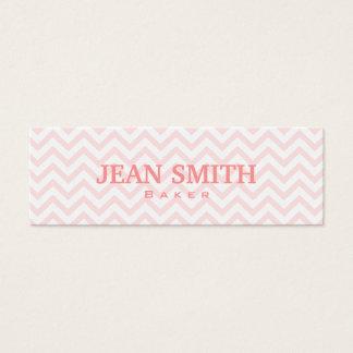 Soft Pink Chevron Baker Business Card
