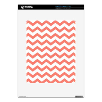 soft pink chevron strips decal for the iPad