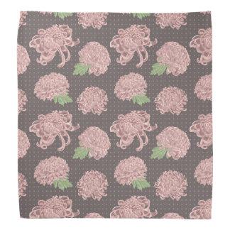 Soft Pink Chrysantemum Seamless Pattern Bandana