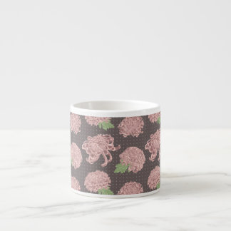 Soft Pink Chrysantemum Seamless Pattern Espresso Cup