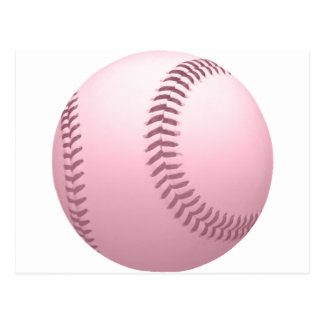 Soft Pink Colored Baseball Post Card