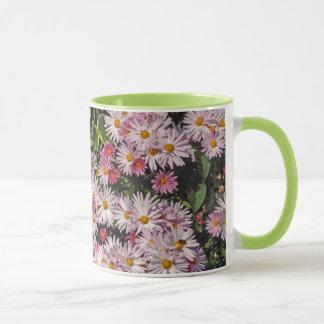 Soft Pink Daisy Pattern Mug
