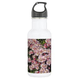 Soft Pink Daisy Pattern 18oz Water Bottle