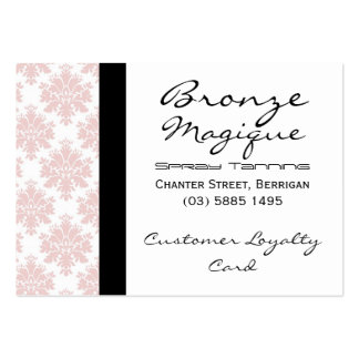 Soft Pink Damask Business Customer Loyalty Cards Business Cards