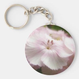 Soft Pink Dianthus Barbatus Keychain