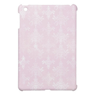 soft pink distressed damask pern iPad mini case