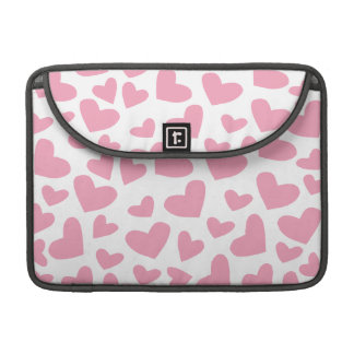 Soft Pink Floating Hearts MacBook Pro Sleeves