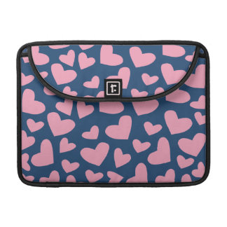 Soft Pink Floating Hearts Sleeve For MacBook Pro