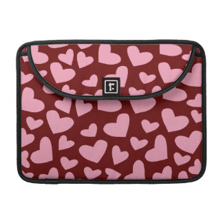 Soft Pink Floating Hearts Sleeves For MacBook Pro