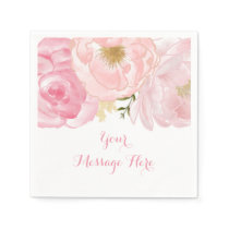 Soft Pink Floral Baby Shower Napkin