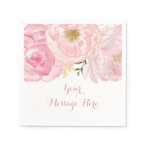 Soft Pink Floral Baby Shower Napkin