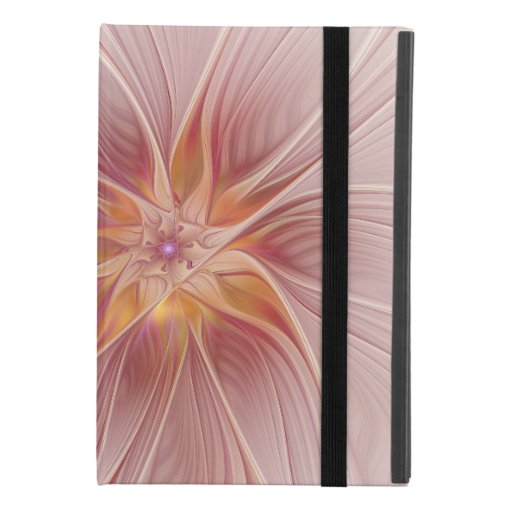 Soft Pink Floral Dream Abstract Fractal Art Flower iPad Mini 4 Case