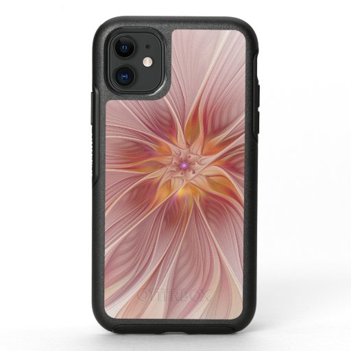 Soft Pink Floral Dream Abstract Modern Flower OtterBox Symmetry iPhone 11 Case