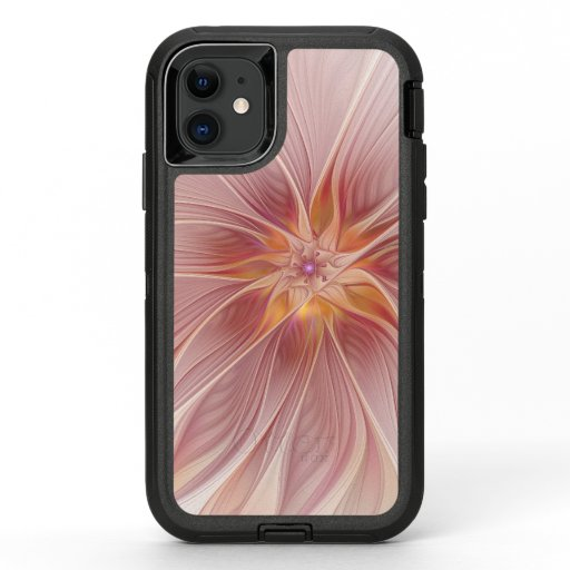 Soft Pink Floral Dream Abstract Modern Flower OtterBox Defender iPhone 11 Case