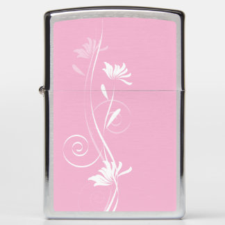 Soft Pink Floral Lighter