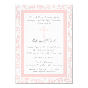 First Communion Invitations Announcements Zazzle
