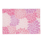 Soft Pink Floral Pattern Laminated Place Mat