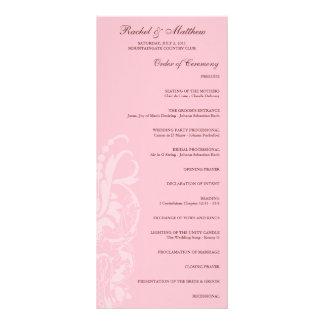 Soft Pink Floral Wedding Program
