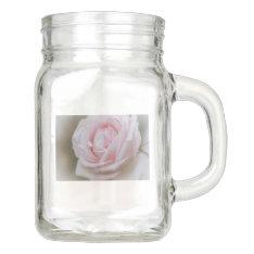 Soft Pink Flower.tif Mason Jar at Zazzle
