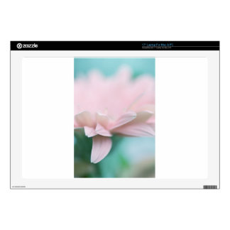 """Soft Pink Gerbera Daisy Decal For 17"""" Laptop"""