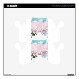 Soft Pink Gerbera Daisy Decal For PS3 Controller