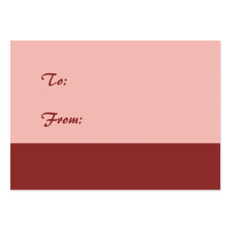 Soft Pink Gift Tag Business Card Templates