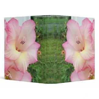 Soft Pink Gladiolas binder