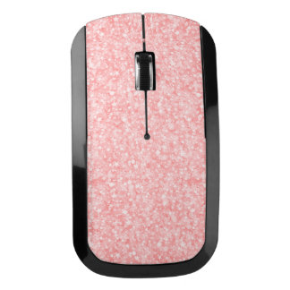 Soft Pink Glitter & Sparkles Wireless Mouse