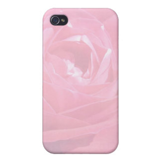 Soft Pink Haze Rose Cover For iPhone 4