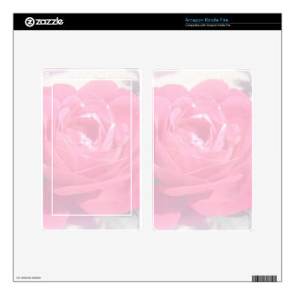 Soft Pink Haze Rose Decals For Kindle Fire
