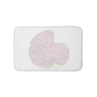 Soft Pink Hydrangea Bath Mat