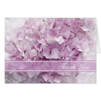 Soft Pink Hydrangea Bridesmaid Thank You Note Card