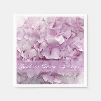 Soft Pink Hydrangea Wedding Paper Napkin