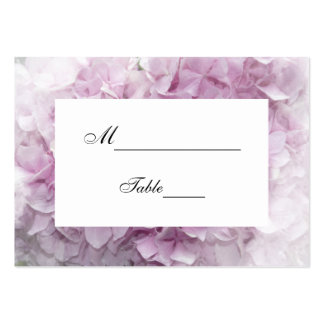 Soft Pink Hydrangea Wedding Place Card Business Cards