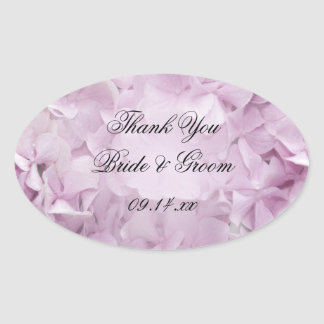 Soft Pink Hydrangea Wedding Thank You Favor Tags