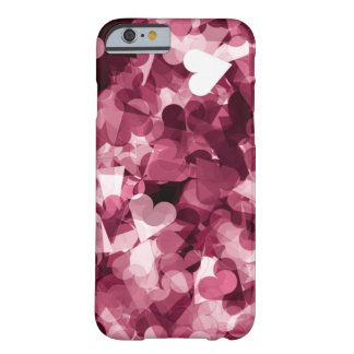 Soft Pink Kawaii Hearts Background Barely There iPhone 6 Case