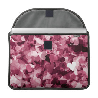 Soft Pink Kawaii Hearts Background MacBook Pro Sleeve