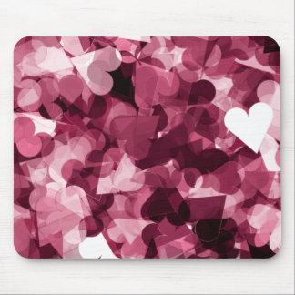 Soft Pink Kawaii Hearts Background Mouse Pad
