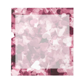 Soft Pink Kawaii Hearts Background Notepad