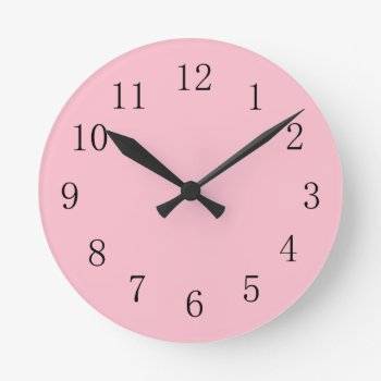 Soft Pink Kitchen Wall Clock by Red_Clocks at Zazzle