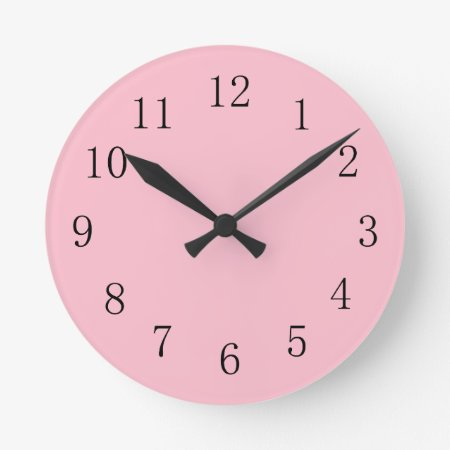 Soft Pink Kitchen Wall Clock