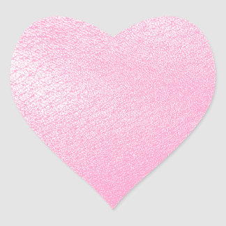 Soft Pink Leather Look (Faux) Heart Sticker