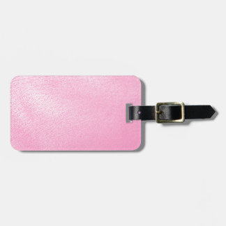 Soft Pink Leather Look (Faux) Luggage Tag