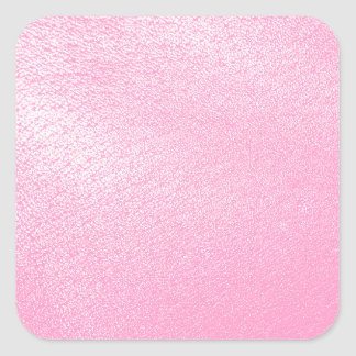 Soft Pink Leather Look (Faux) Square Sticker