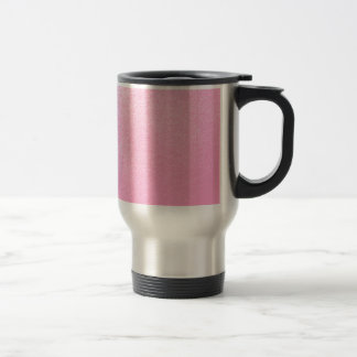 Soft Pink Leather Look (Faux) Travel Mug