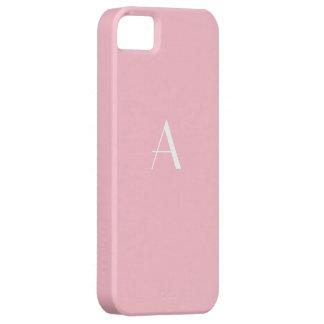 Soft Pink Monogram iPhone 5 Case