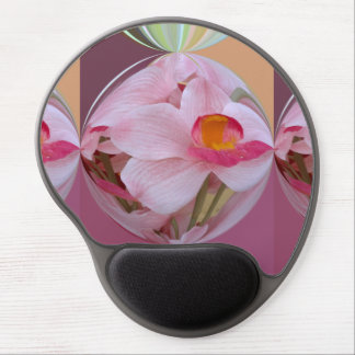 Soft Pink Orchid Abstracted Gel Mouse Pad
